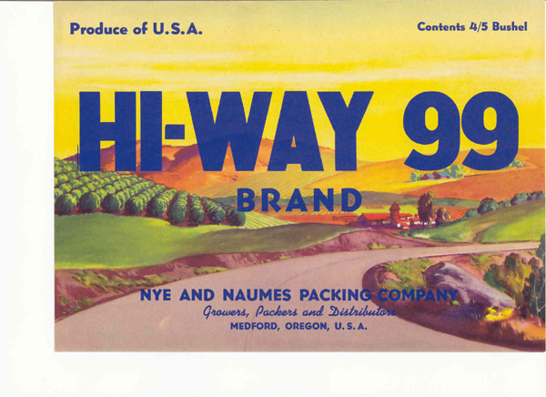 Hiway 99 Brand Pears.