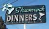 Shamrock Dinners sign