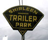 Shirleen trailer park sign